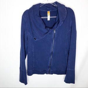 Lucy blue asymmetrical sweatshirt XL thick/ heavy